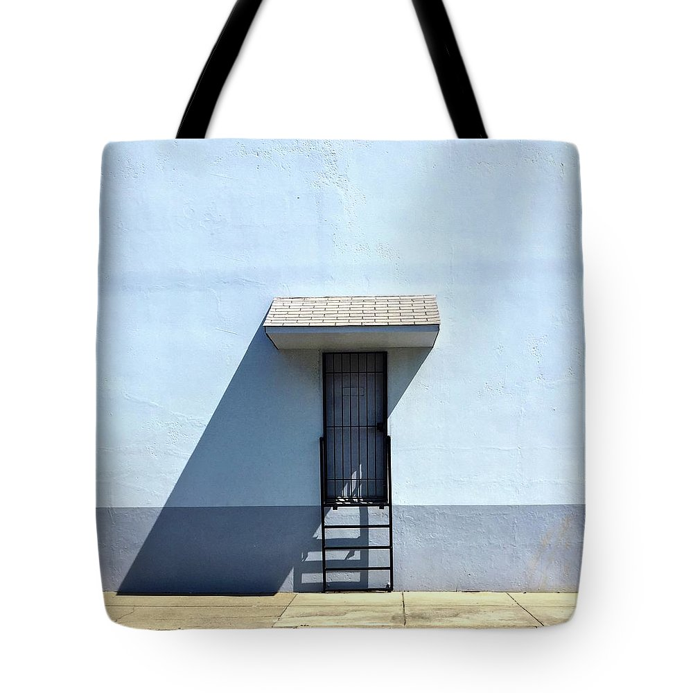 Tote Bag featuring the photograph Awning Shadow by Julie Gebhardt