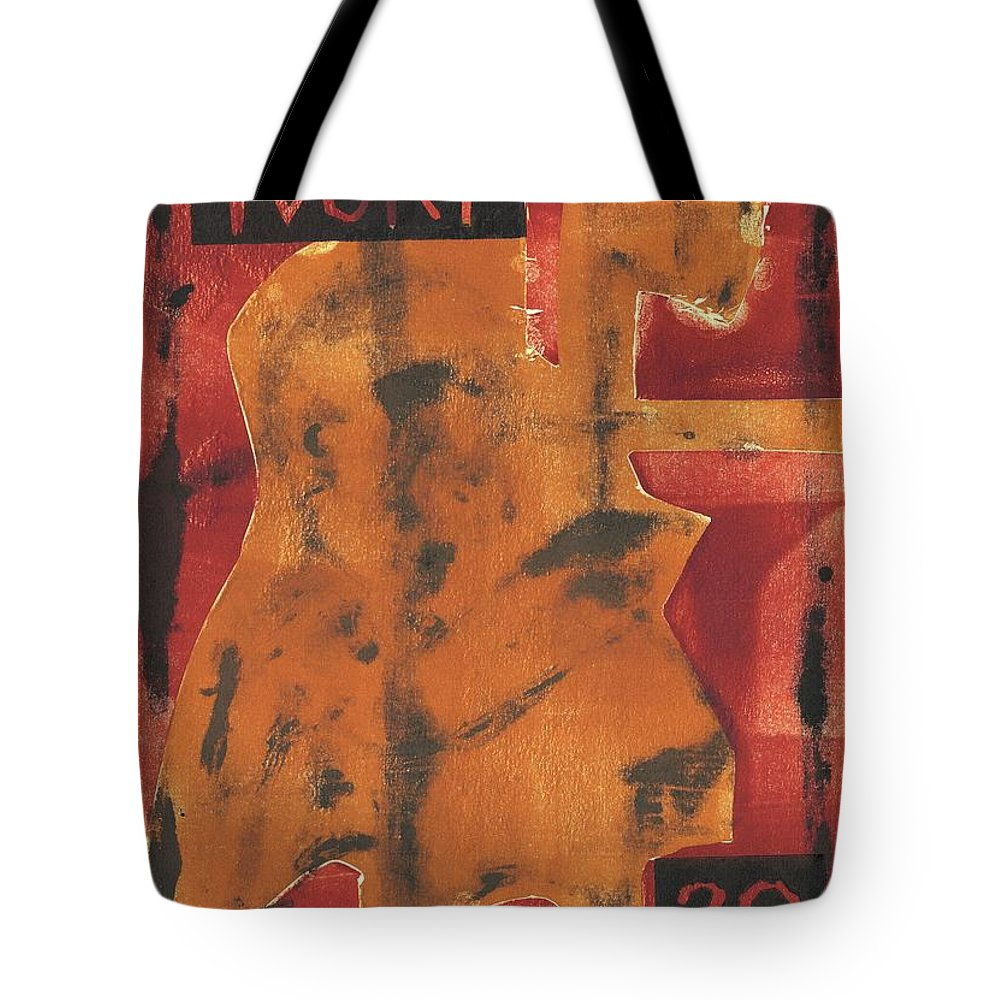 Axeman Tote Bag featuring the relief Axeman 1 by Artist Dot