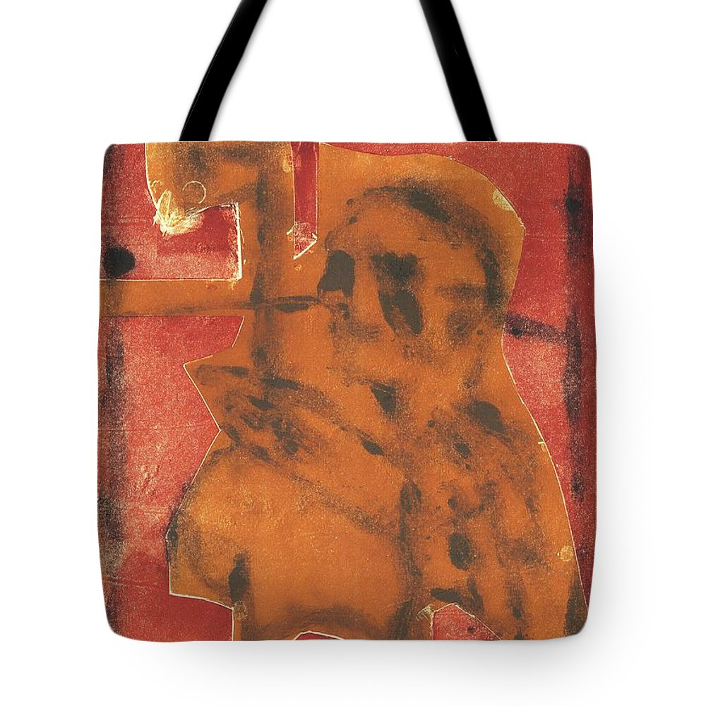 Axeman Tote Bag featuring the relief Axeman 13 by Artist Dot