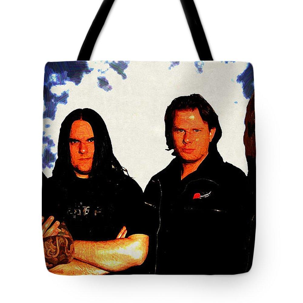 Axenstar Tote Bag featuring the digital art Axenstar by Lora Battle