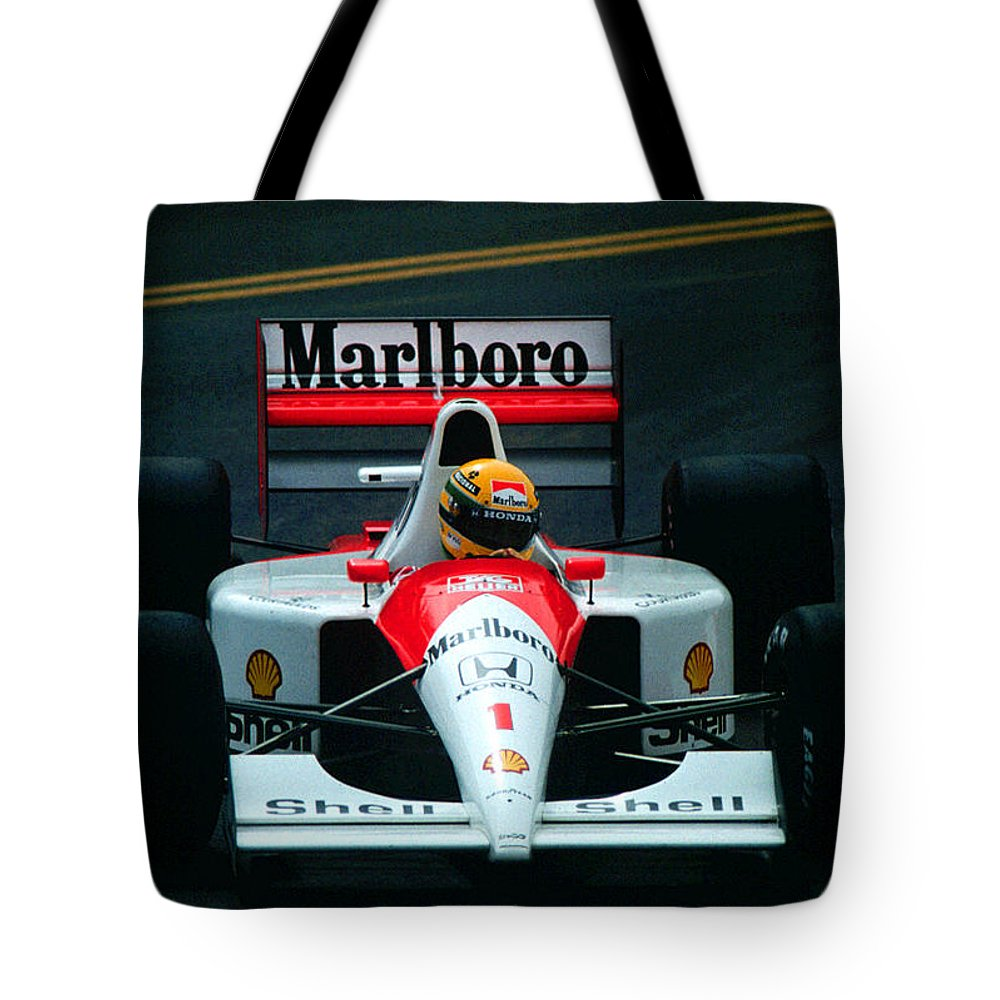 Words Fail Me ... He Is Sorely Missed. What A Great Ambassador For Racing And As A Human Being. Tote Bag featuring the photograph Ayrton Senna 1 by Paolo Govoni