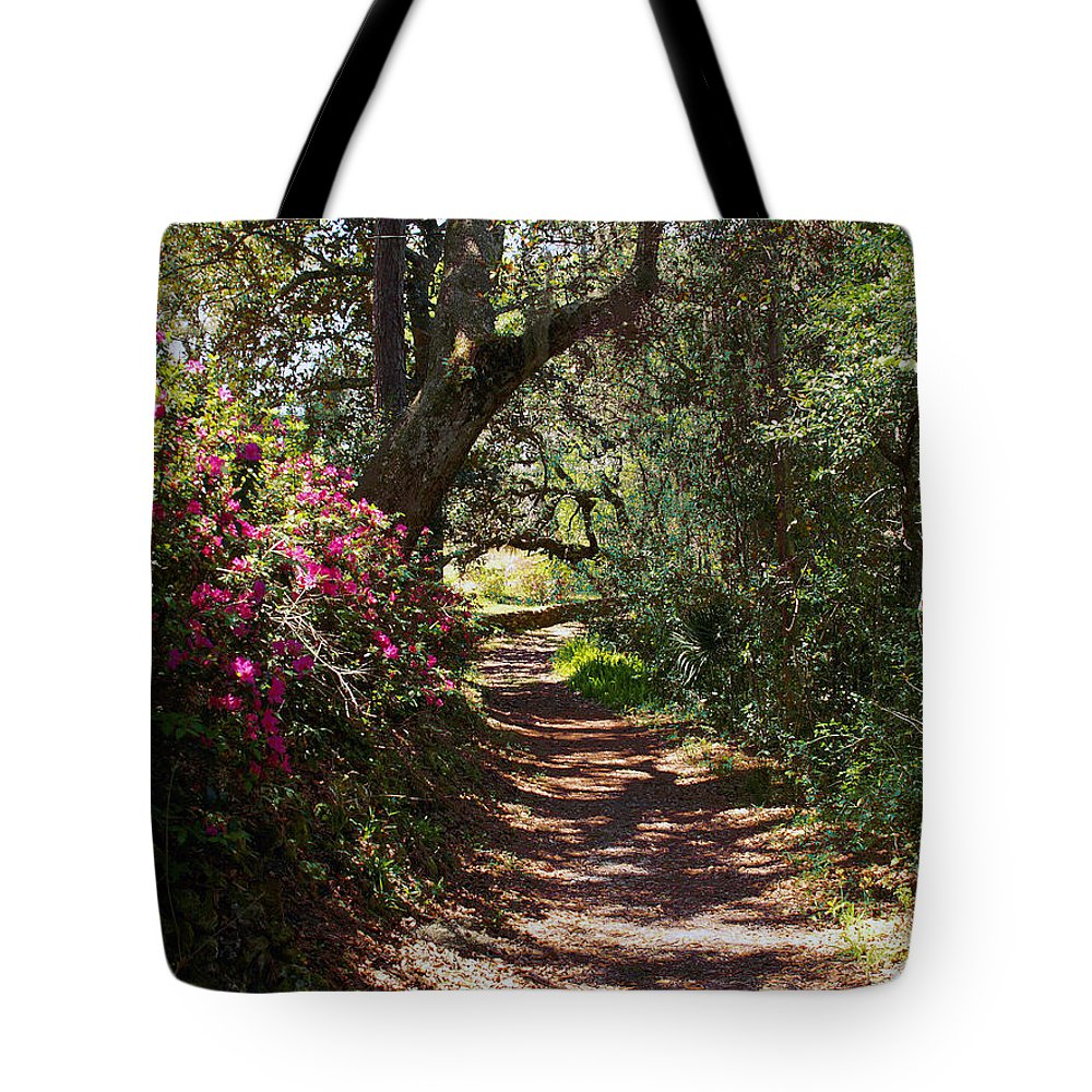 Azalea Tote Bag featuring the photograph Azalea Path by Bob Johnson