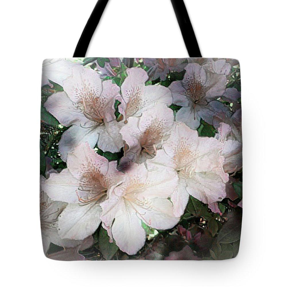Azaleas Tote Bag featuring the digital art Azaleas by Irene Dowdy