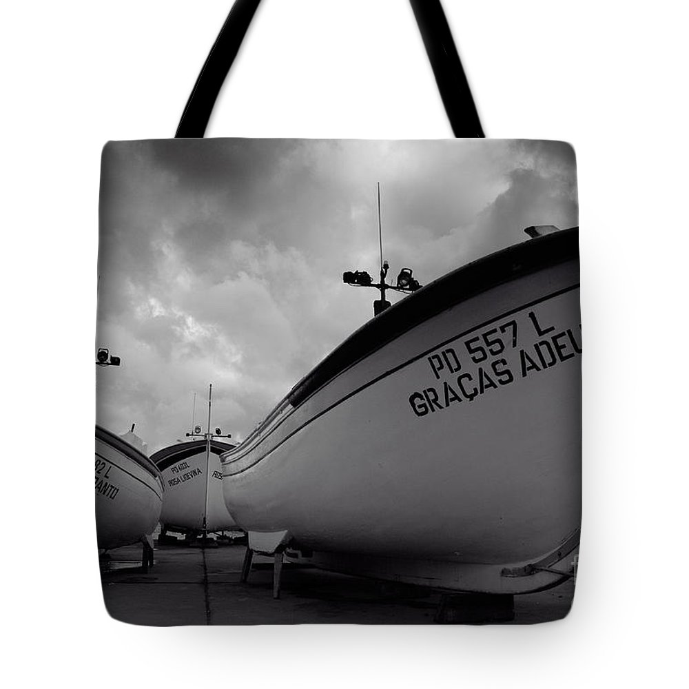 Azoren Tote Bag featuring the photograph Azorean Fishing Boats by Gaspar Avila