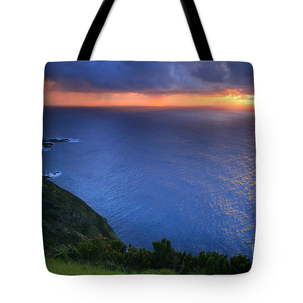 Island Tote Bag featuring the photograph Azores Islands Sunset by Gaspar Avila