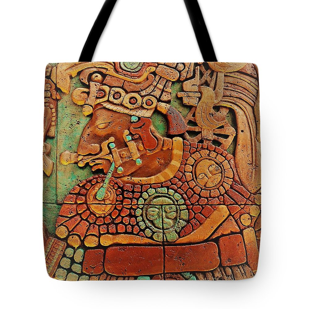 Mesoamerican Tote Bag featuring the photograph Aztec by Mesa Teresita
