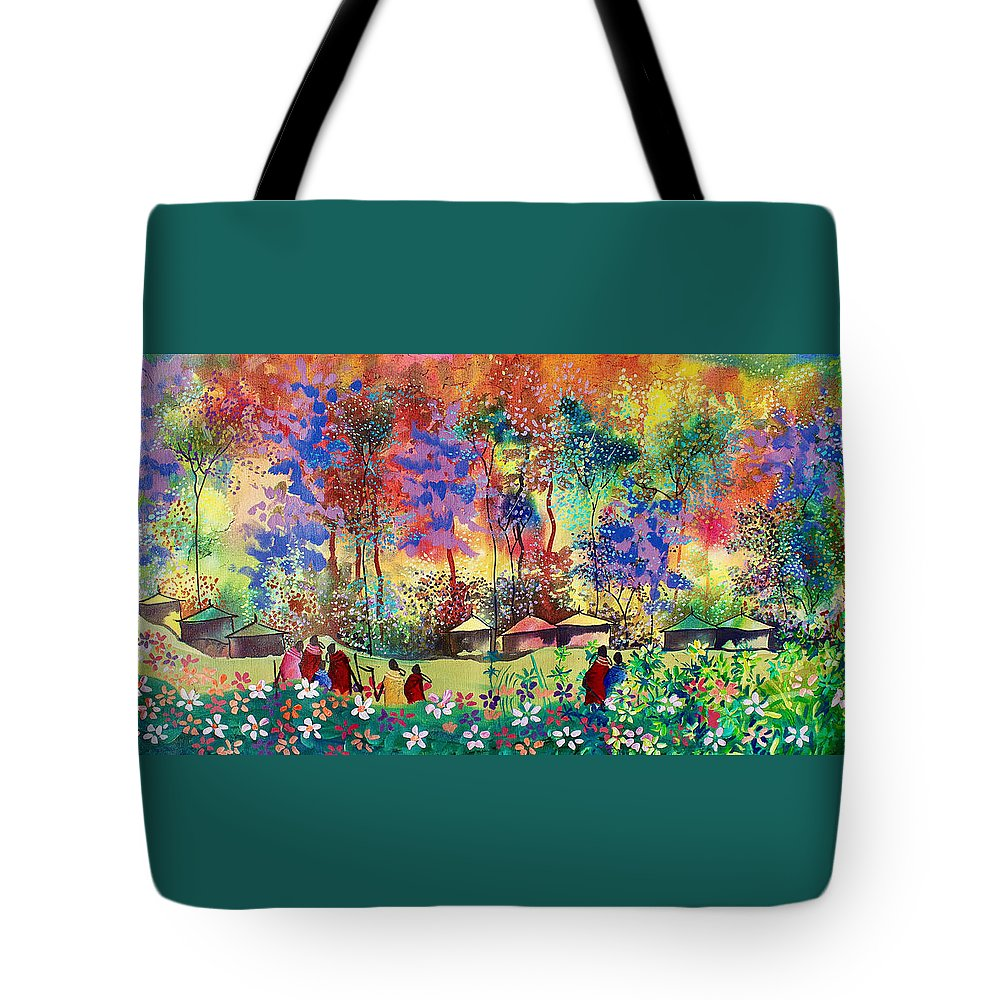 True African Art Tote Bag featuring the painting B-366 by Martin Bulinya