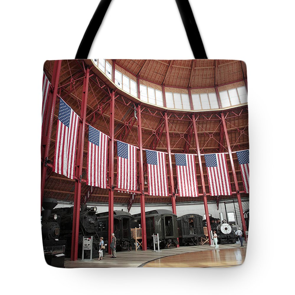 B&o Tote Bag featuring the photograph B And O Museum Roundhouse In Baltimore Maryland by William Kuta
