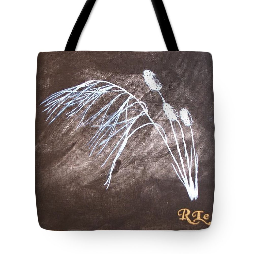 Wild Grass Tote Bag featuring the painting B And W Wild Grass by Richard Le Page