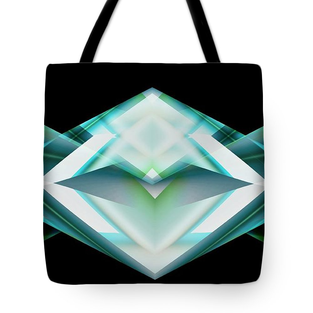 Abstractions Abstract Modern Contemporary Alien Spiritual Love Death Otherworlds Timetravel Tote Bag featuring the digital art Domian by Salvatore Sgroi