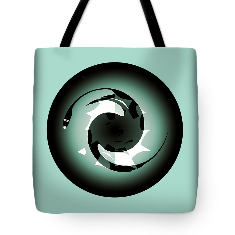 Baby Dragon Tote Bag featuring the digital art Baby Dragon by Krzysztof Spieczonek