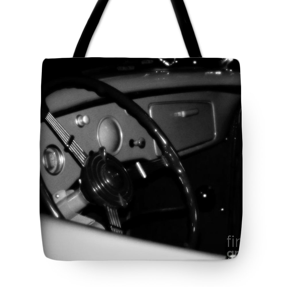 Black And White Tote Bag featuring the photograph Baby You Can Drive My Car I by RC deWinter