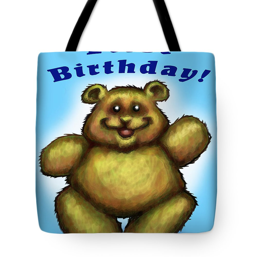 Baby Tote Bag featuring the greeting card Babys First Birthday by Kevin Middleton