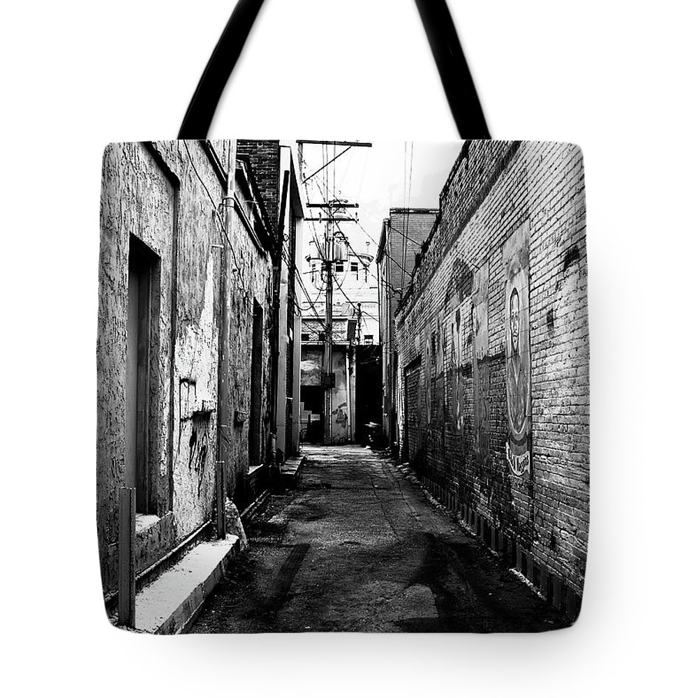 Fine Art Photography Tote Bag featuring the photograph Back Alley by David Lee Thompson