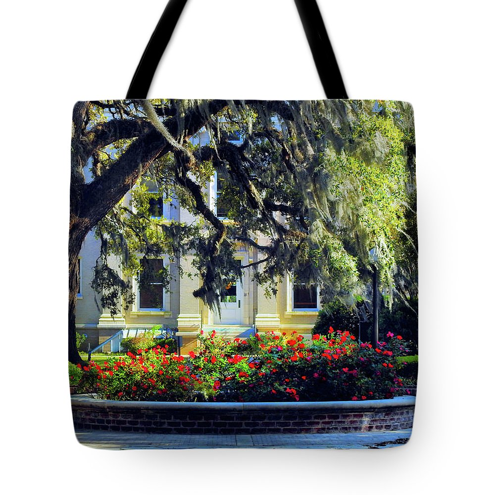 Glynn County Tote Bag featuring the photograph Back Door Justice by Laura Ragland