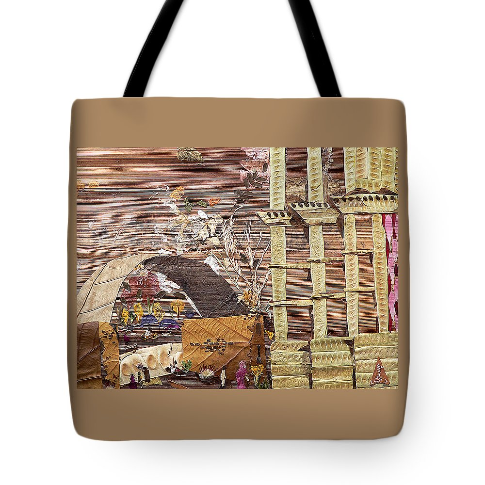 Back Door Entry For Relief To Disabled Tote Bag featuring the mixed media Back Entry by Basant soni