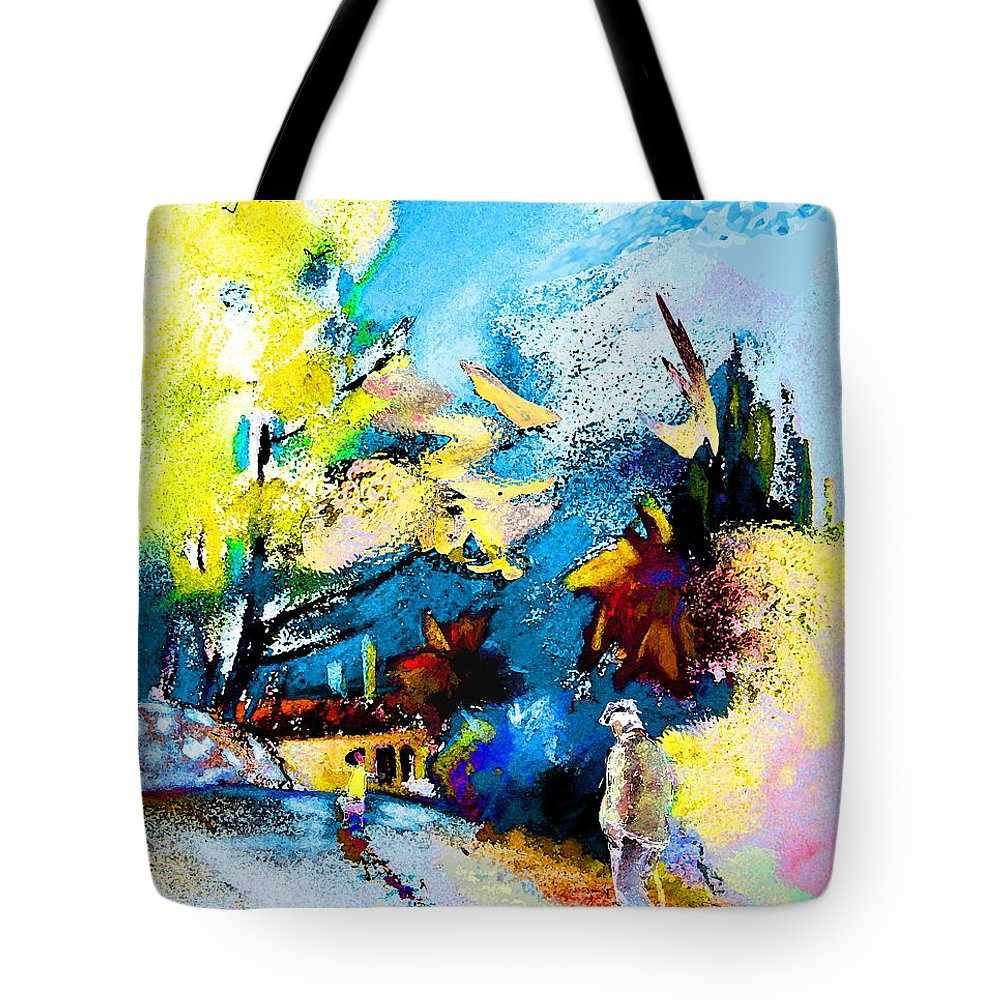 Pastel Painting Tote Bag featuring the painting Back Home by Miki De Goodaboom