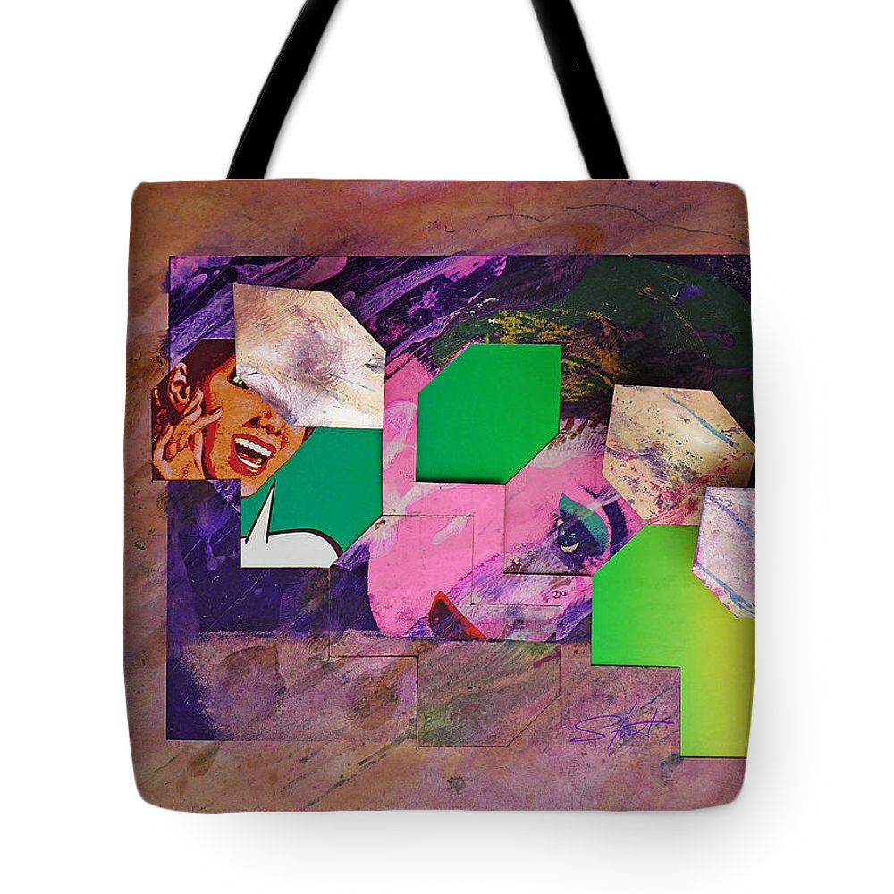 Psycho Tote Bag featuring the mixed media Back In The 1950s by Charles Stuart