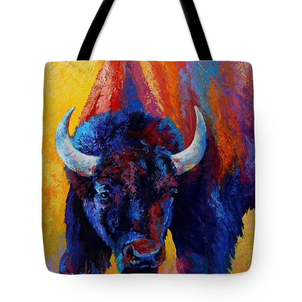 Wildlife Tote Bag featuring the painting Back Off by Marion Rose