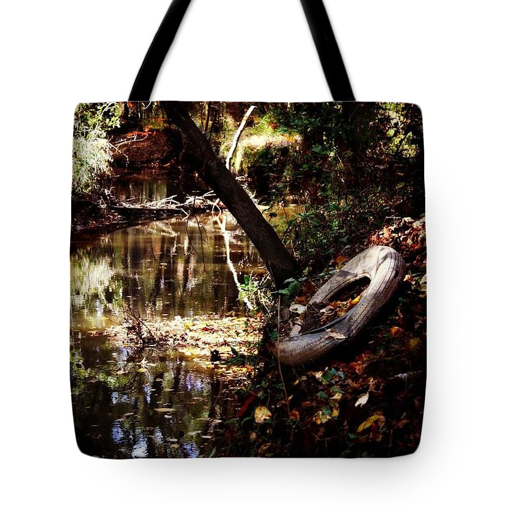 Country Tote Bag featuring the photograph Back Road Finds by Melanie Latham
