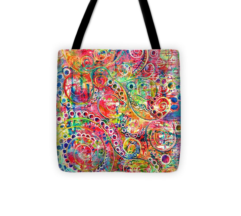 Hoots Tote Bag featuring the painting Back To The Beginning by Jane Rochelle