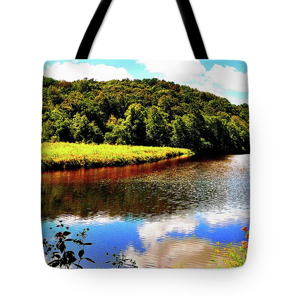 Tote Bag featuring the photograph Backbone State Park - Dundee, Ia by Sherri Hasley