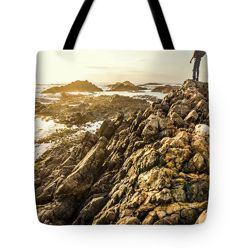 Tasmania Tote Bag featuring the photograph Backpacking A Tropical Sundown by Jorgo Photography - Wall Art Gallery