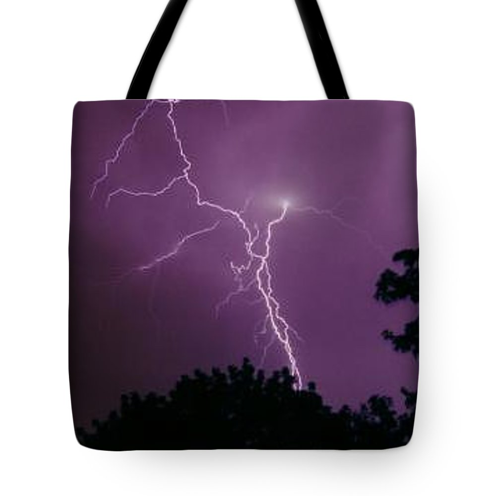 Thunderstorms Tote Bag featuring the photograph Backyard Surprise by Cathy Franklin