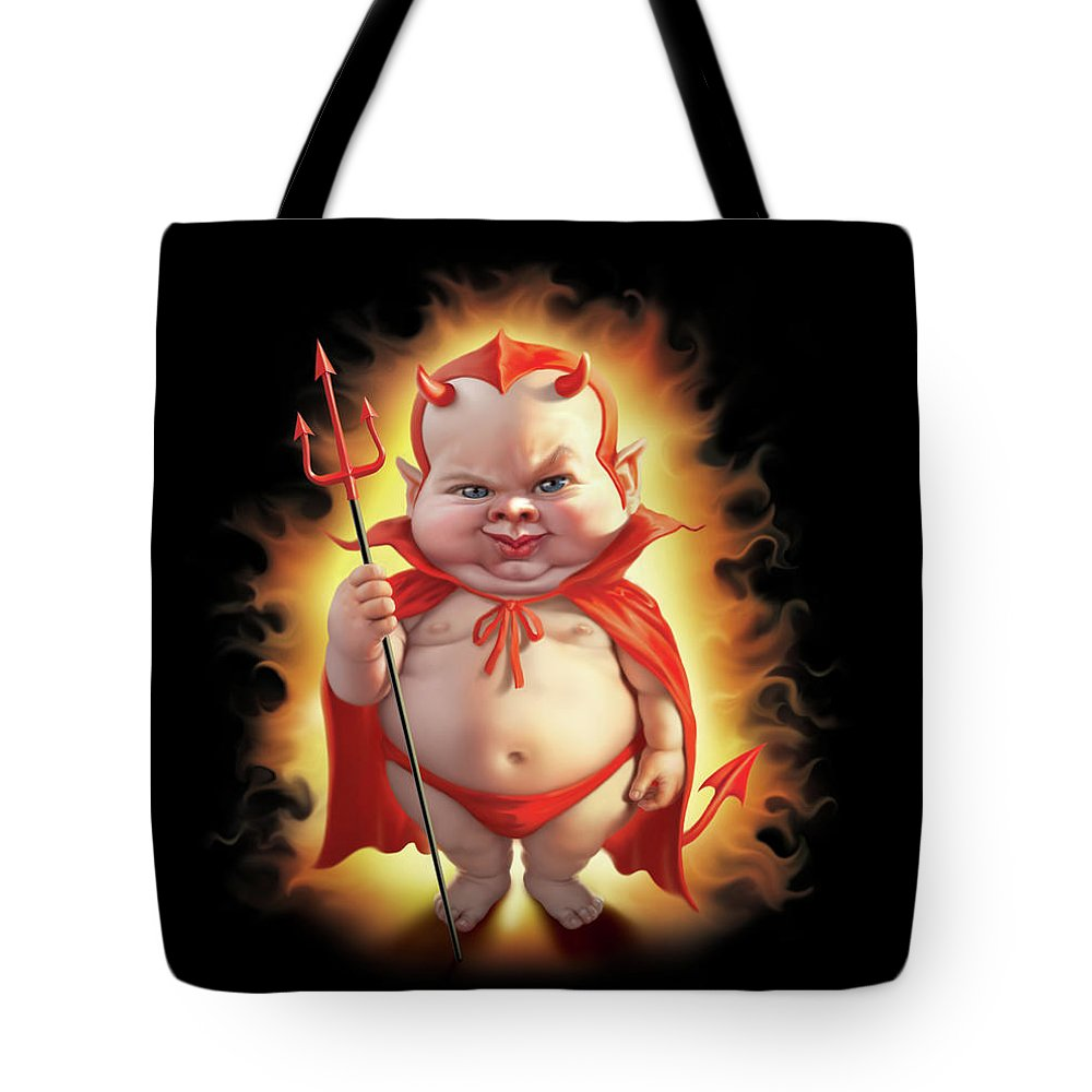 Fork Digital Art Tote Bags