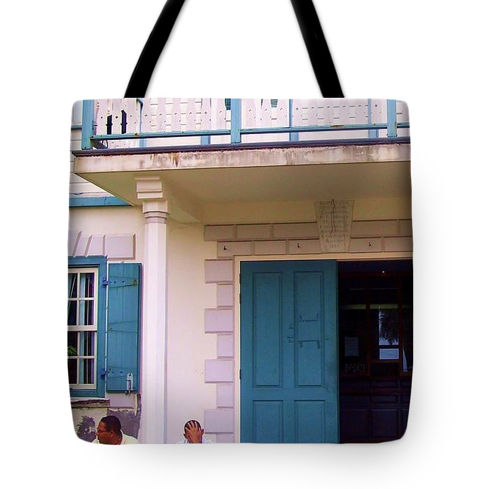 Building Tote Bag featuring the photograph Bad Day In Court by Debbi Granruth