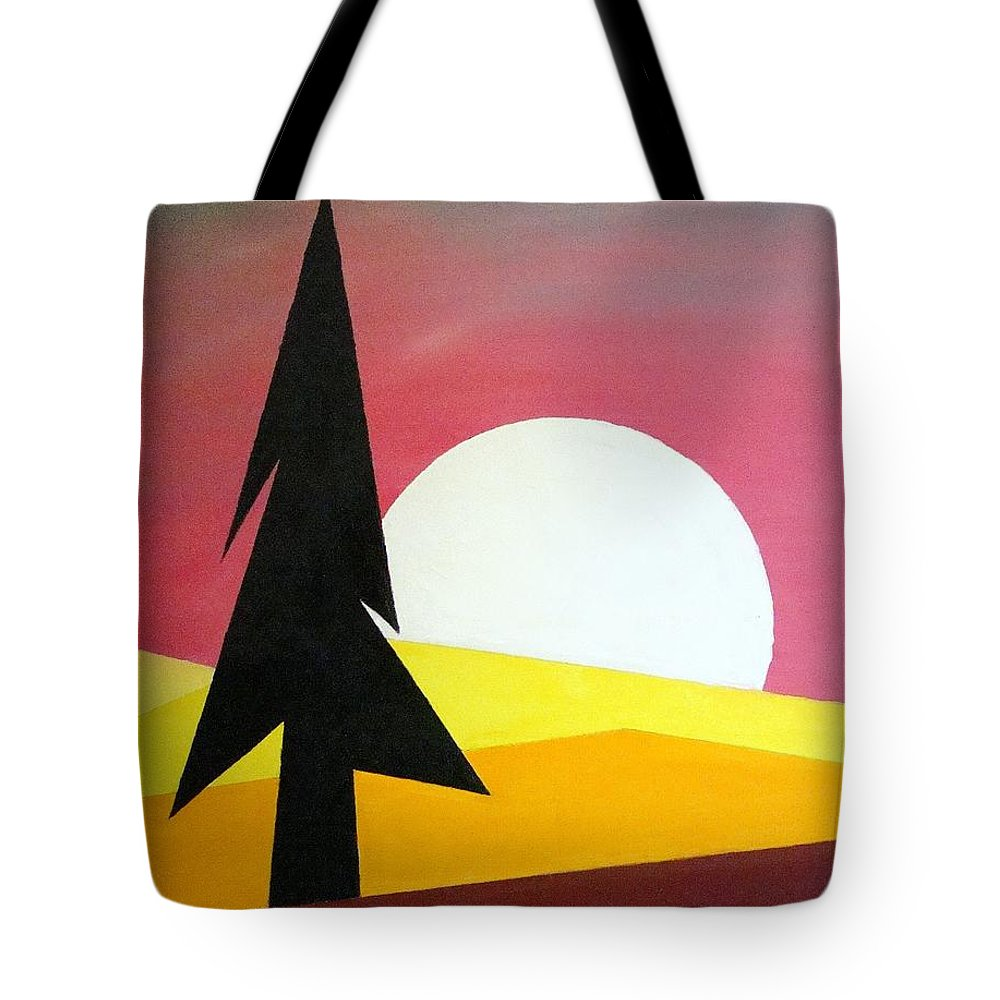 Impressionist Painting Tote Bag featuring the painting Bad Moon Rising by J R Seymour