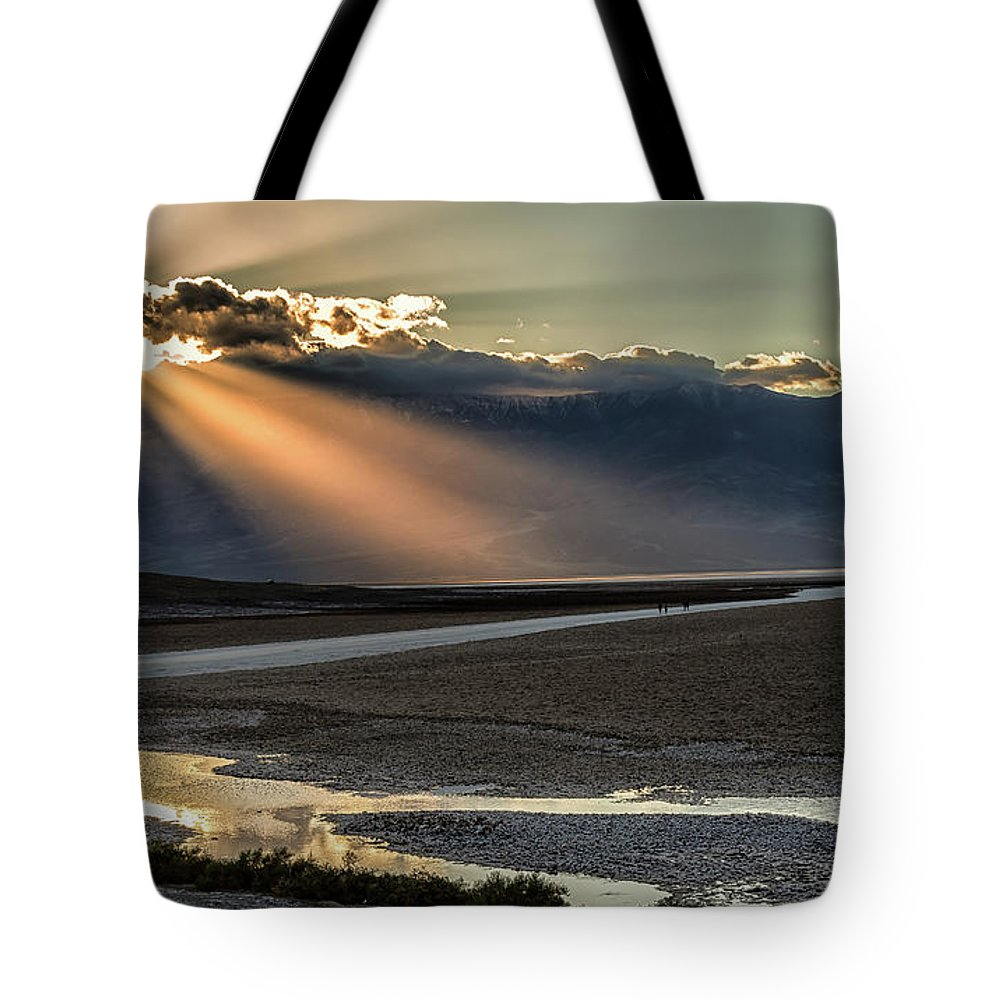 Tote Bag featuring the photograph Bad Water Basin Death Valley National Park by Michael Rogers