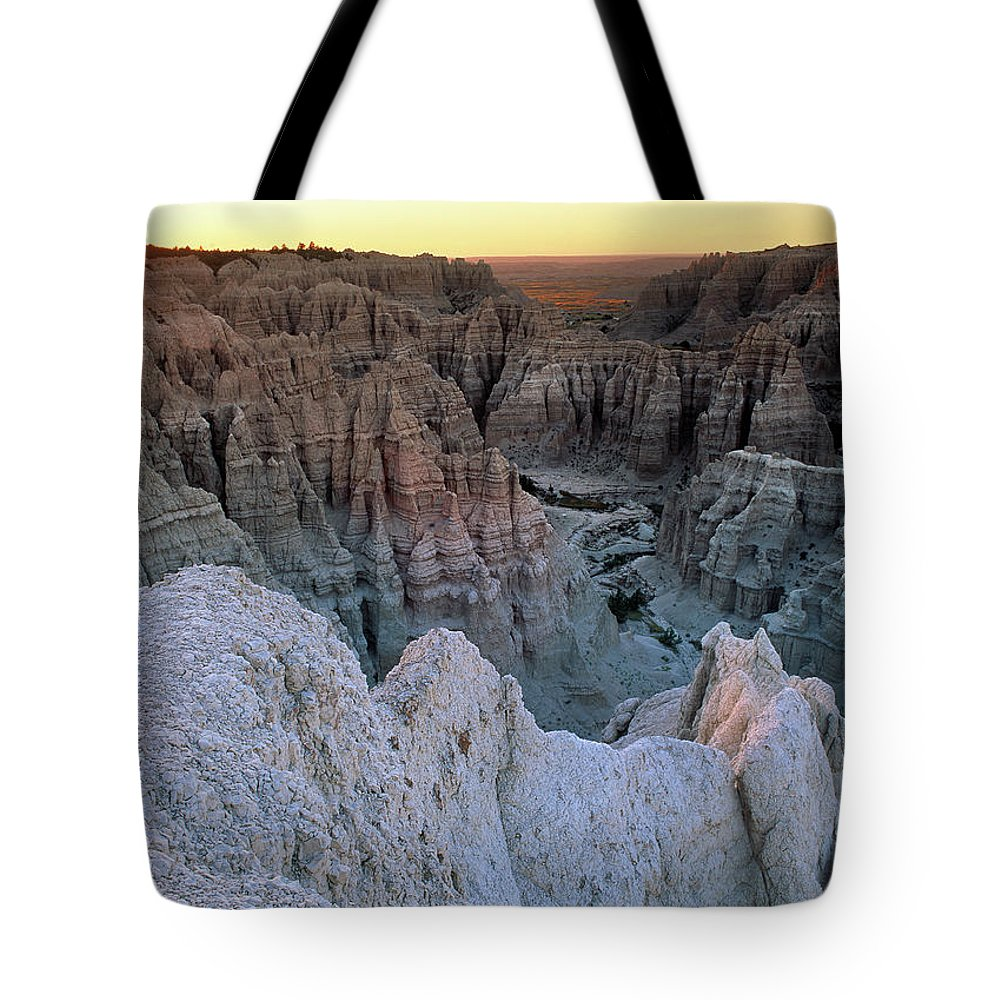 South Dakota Tote Bag featuring the photograph Badlands by Leland D Howard