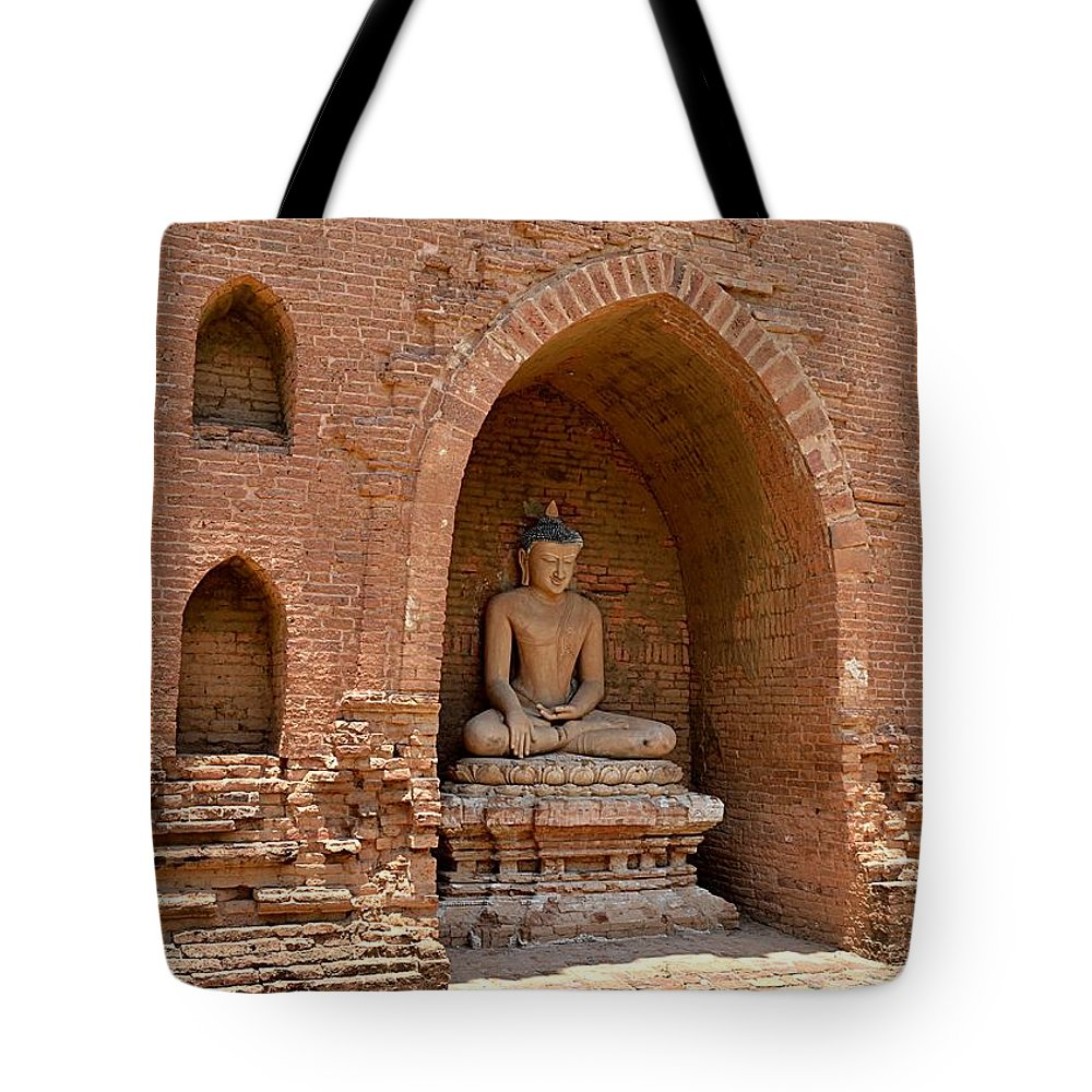 Tote Bag featuring the photograph Bagan, Burma by Christopher Sammons