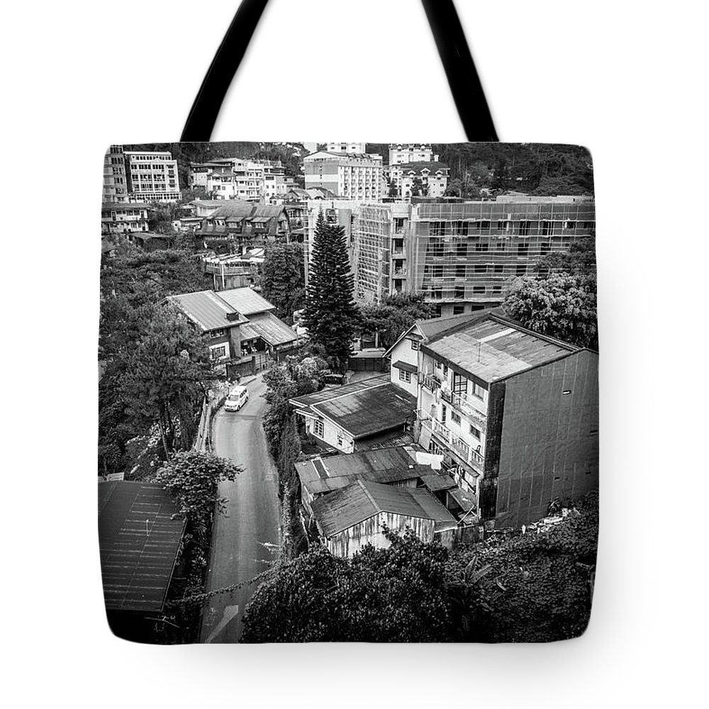 Baguio City Tote Bag featuring the photograph Baguio City On High by Donald Carr
