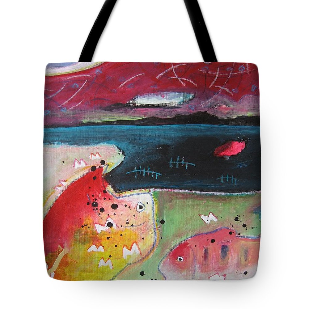 Acrylic Paintings Tote Bag featuring the painting Baieverte by Seon-Jeong Kim