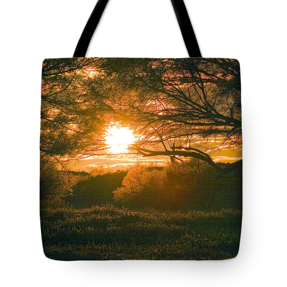Baja California Tote Bag featuring the photograph Baja Sunset by David Salter