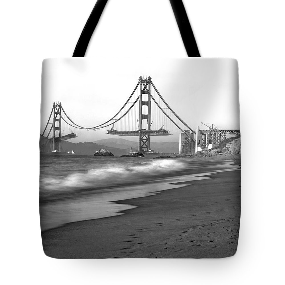 1930s Tote Bag featuring the photograph Baker Beach In Sf by Underwood Archives