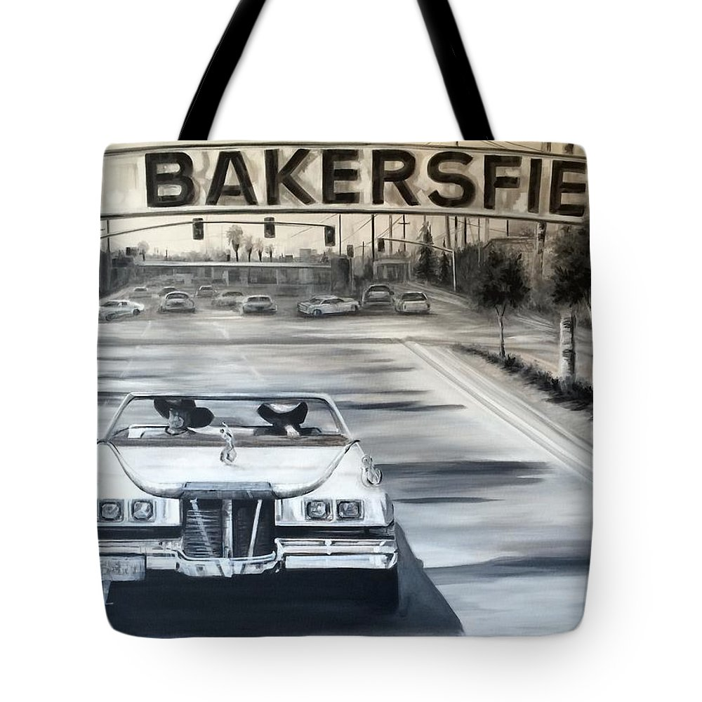 Bakersfield Tote Bag featuring the painting Bakersfield by Rebecca Aguilar