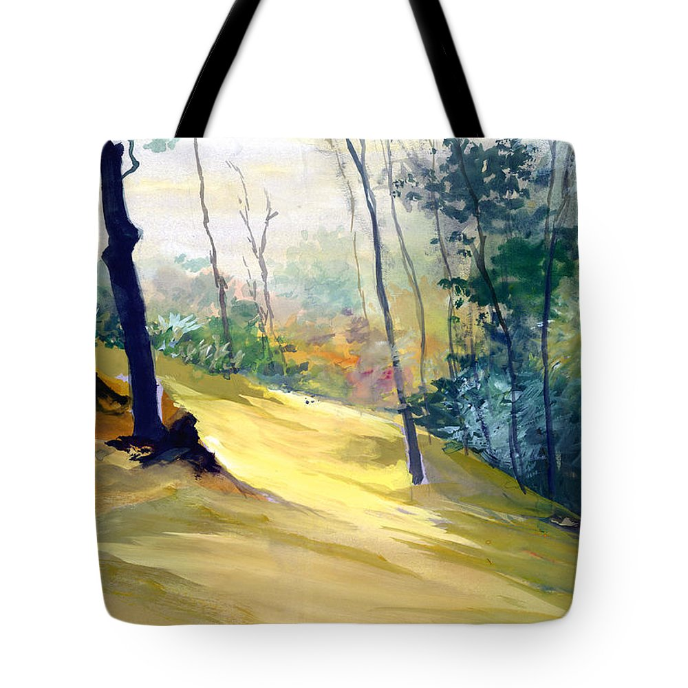 Landscape Tote Bag featuring the painting Balance by Anil Nene
