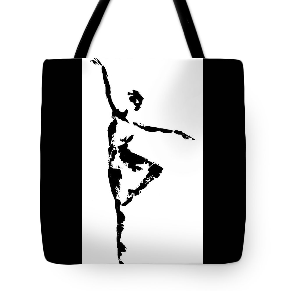 Dance Tote Bag featuring the painting Balance by Emily Page