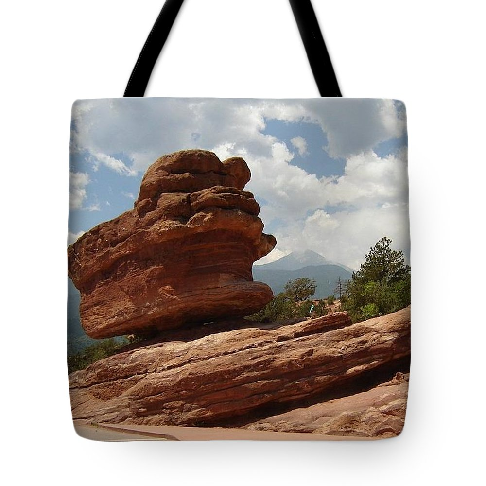 Colorado Tote Bag featuring the photograph Balance Rock by Anita Burgermeister