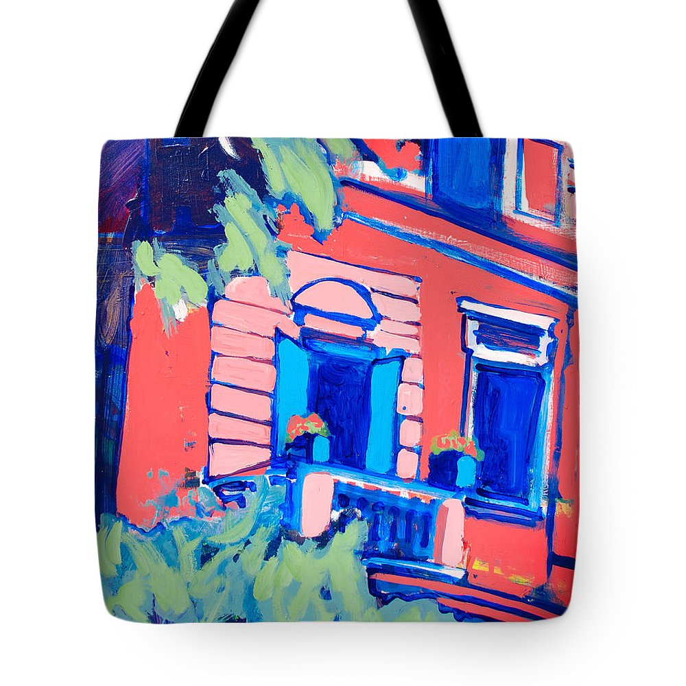 Balcony Tote Bag featuring the painting Balcone by Kurt Hausmann