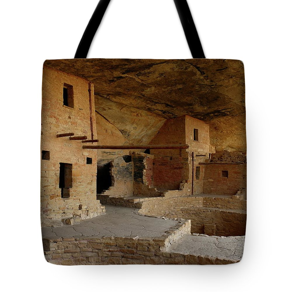Mesa Tote Bag featuring the photograph Balcony House View by Christiane Schulze Art And Photography