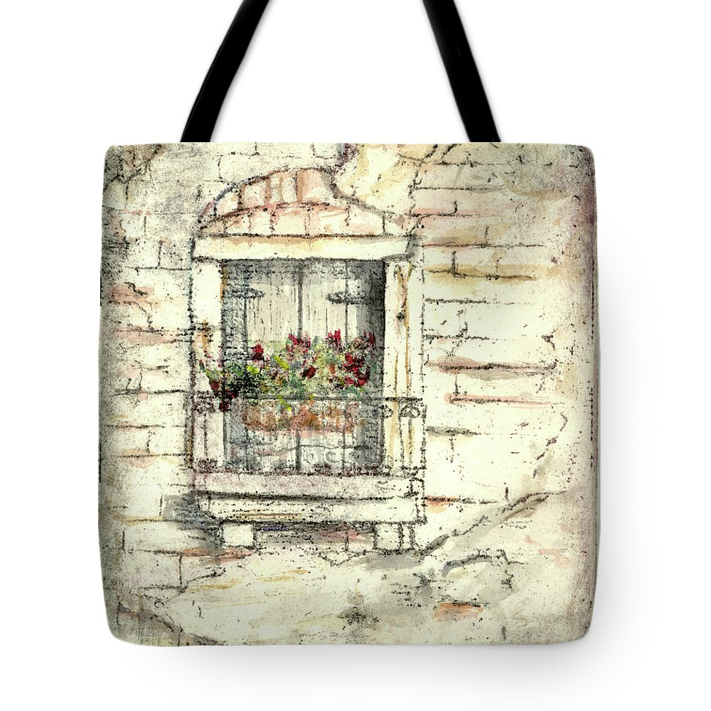 Venice Tote Bag featuring the painting Balcony Venice by Richard Bulman