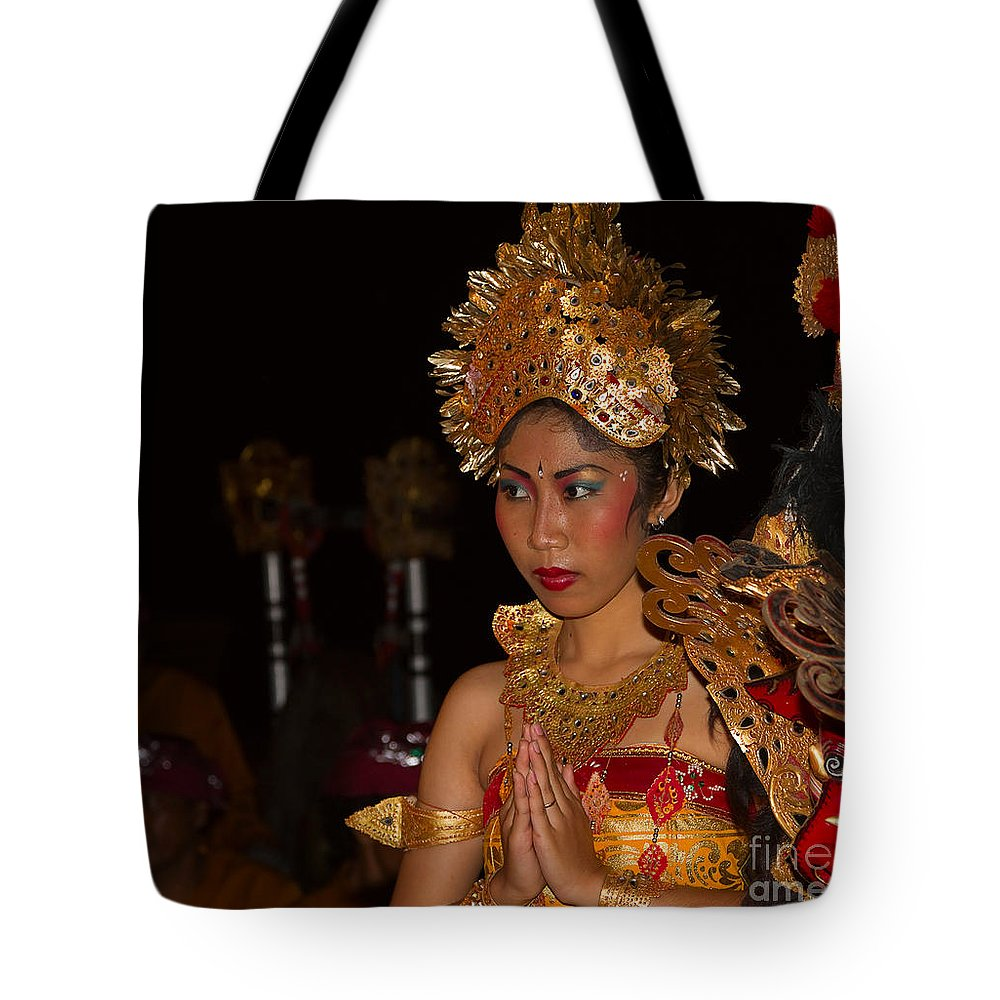 Dancer Tote Bag featuring the photograph Balinese Dancer by Louise Heusinkveld