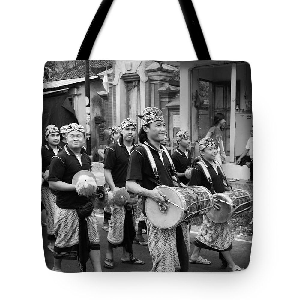Balinese People Tote Bag featuring the photograph Balinese People by Charuhas Images