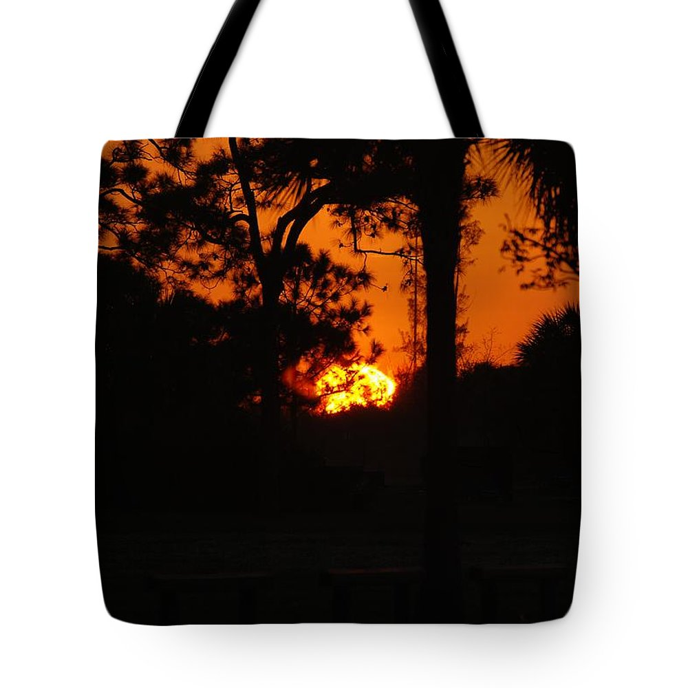 Landscape Tote Bag featuring the photograph Ball Of Fire by Rob Hans