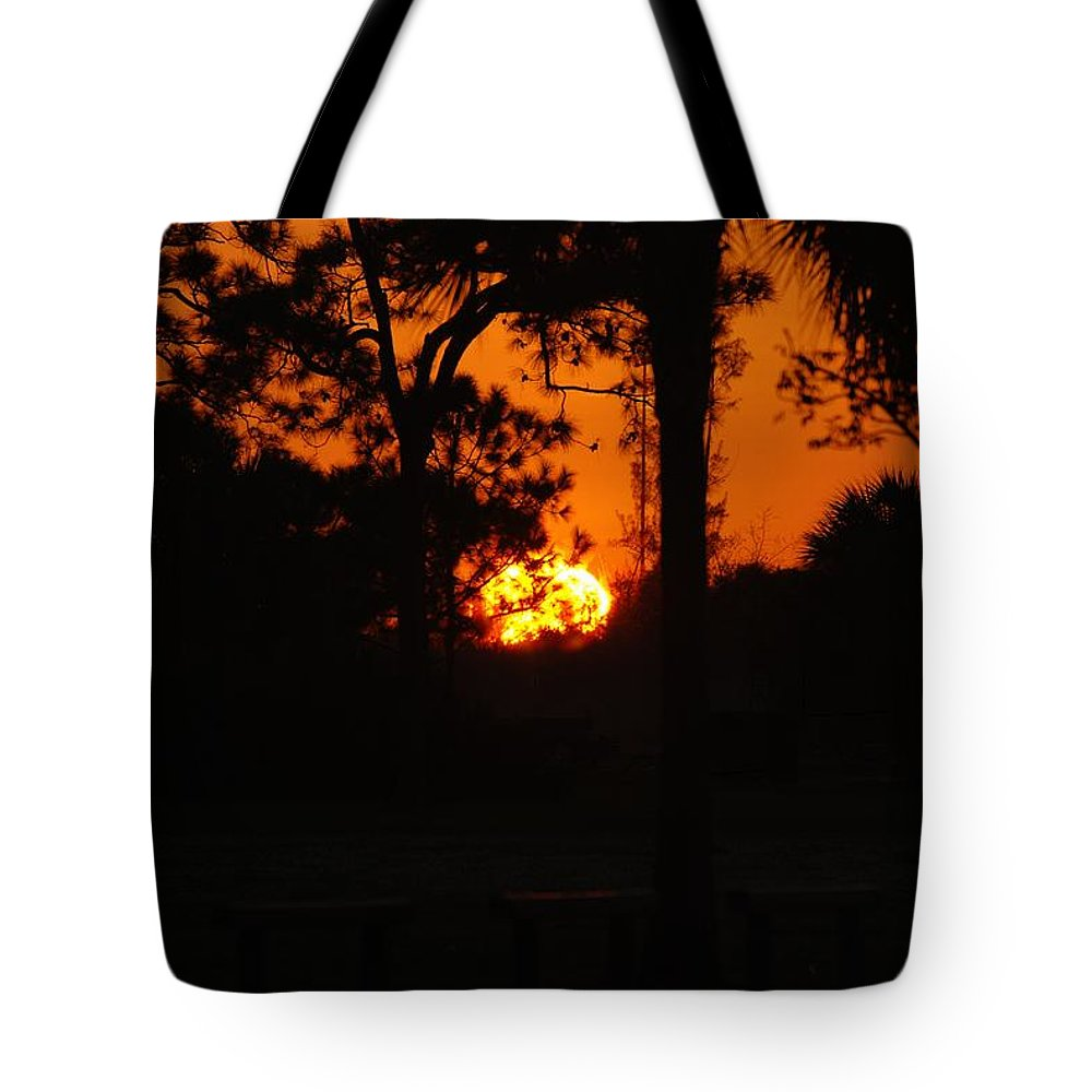 Nature Tote Bag featuring the photograph Ball Of Sun by Rob Hans