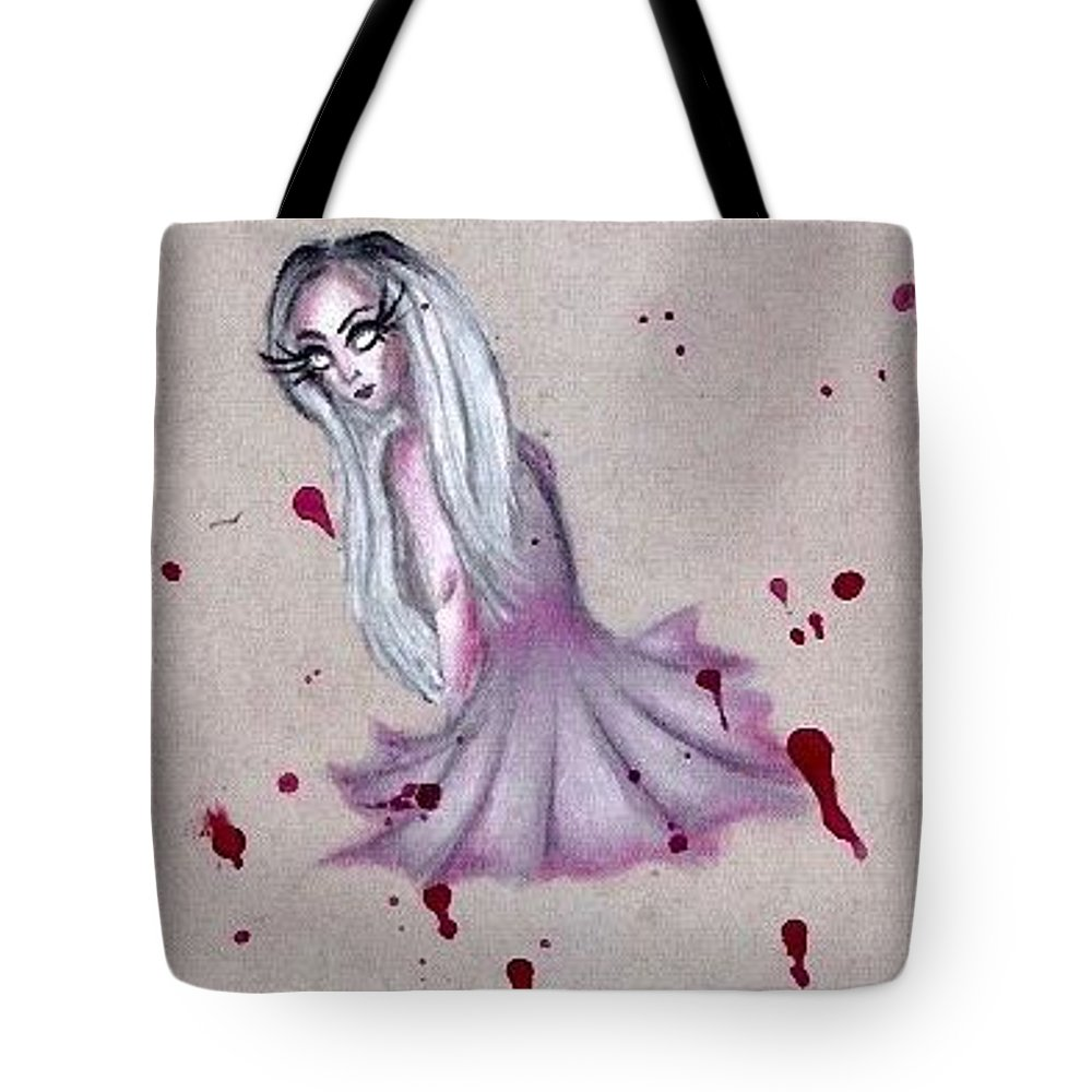 Blood Tote Bag featuring the pastel Ballerina by Alyssa Torres